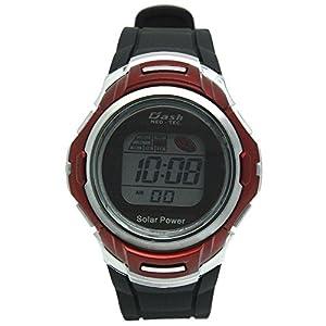 [アリアス]ALIAS 腕時計 ソーラー デジタル DASH 10気圧防水 ウレタンベルト レッド ブラック AD06717SOL11 メンズ