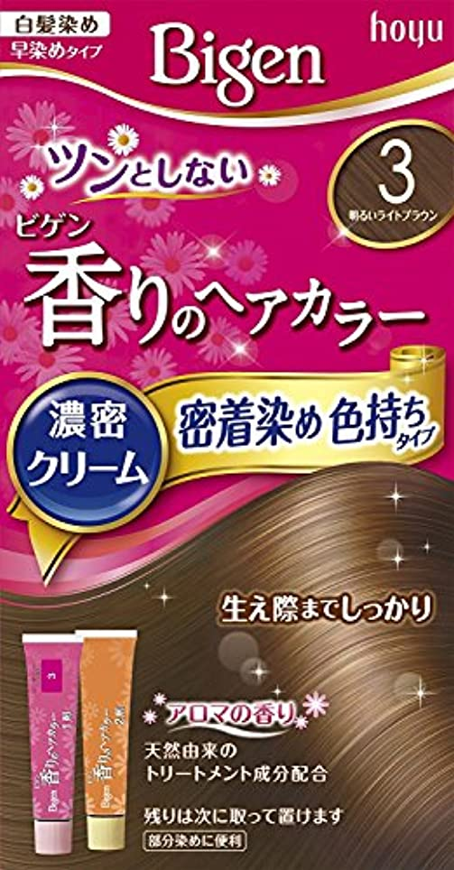 かんがい登録する始めるホーユー ビゲン香りのヘアカラークリーム3 (明るいライトブラウン) ×6個