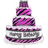 YideaHome バルーン 誕生日 アルミ風船 パーティー 装飾 祝い HAPPY BIRTHDAY ハッピーバースデー (ローズ)