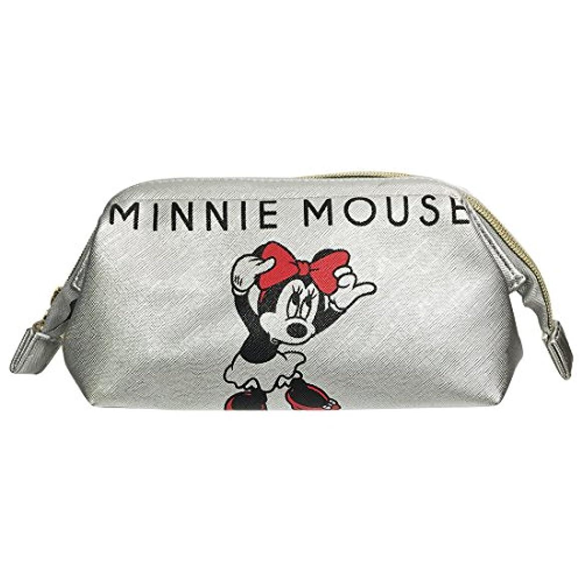 ディズニー シボ合皮ワイヤーポーチ ミッキーマウス&ミニーマウス APDS3446