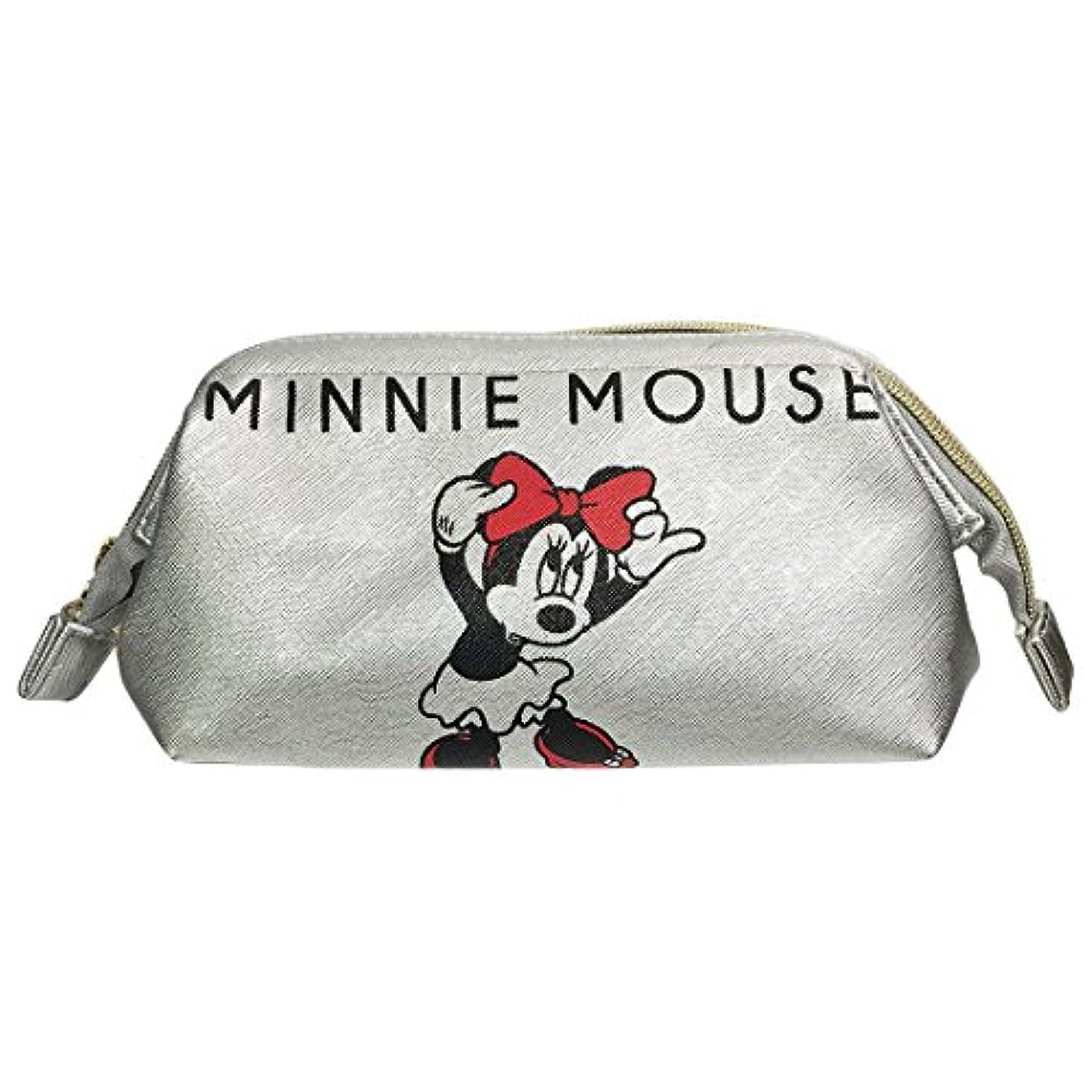 アテンダント病気のサスペンションディズニー シボ合皮ワイヤーポーチ ミッキーマウス&ミニーマウス APDS3446