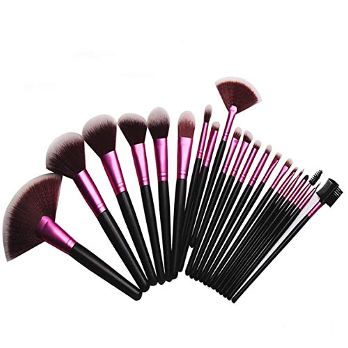 貼り直すバーファンJIAYIZS 21個化粧ブラシセットブラシファンデーションブラシチークブラシアイシャドウブラシリップブラシ高光沢ブラシセットブラシ