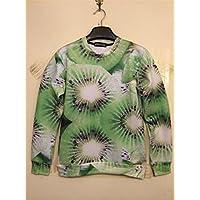 Unisex 3D Print Galaxy Animal hipster sweater sweatshirt Pullover(Kiwi)