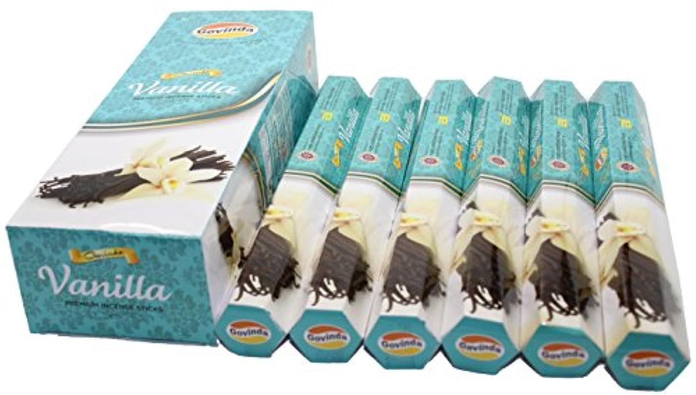 刺繍海外で頭痛Govinda ®お香 – Vanilla – 120 Incense Sticks、プレミアムIncense、Masalaコーティング
