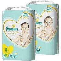 パンパース オムツ テープ はじめての肌へのいちばん S(4~8kg) 120枚 (60枚×2パック)