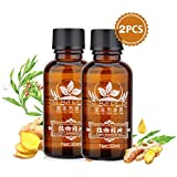Ginger Essential Oil Natural Plant Lymphatic Drainage Ginger Essential Oils, Natural Anti Aging Essential Oil SPA Massage Oils, 100% Pure Natural -30ml (2pack)