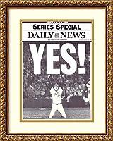 アートフレーム印刷' Yes 。( ' 86メッツ) ' by NY Daily News Size: 15 x 20 (Approx), Matted グレー 2253559