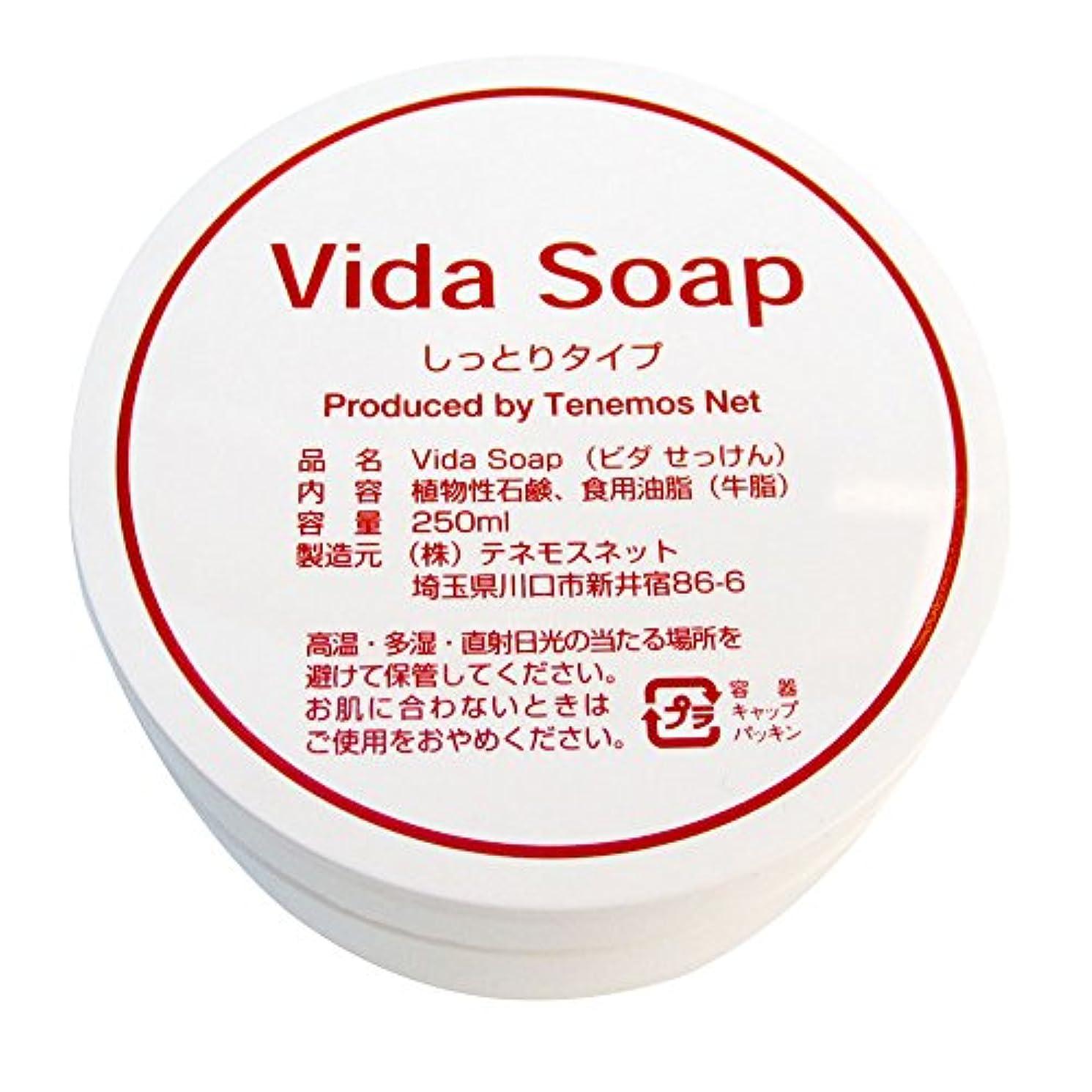 素晴らしさあらゆる種類の処理するテネモス ビダせっけん Vida Soap しっとりノーマル 動物性 250ml