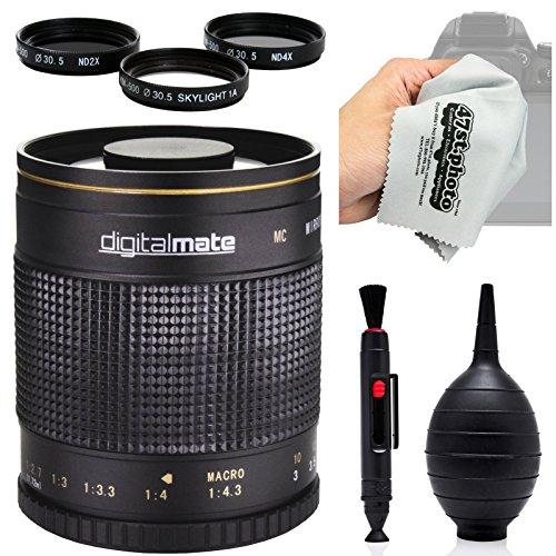 digitalmate 500mm f / 8HD Reflexミラー望遠レンズfor Nikon 1j5, j4, j3, j2, s2, s1, v3, v2, v1、aw1コンパクトミラーレスデジタルカメラ