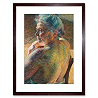 Boccioni Nude Painting Small Framed Wall Art Print