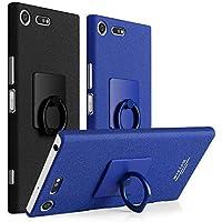 OURJOY SONY Xperia XZ Premium ケース 軽量 薄型 SO-04J ガードカバー PC バック カバー リング付き 衝撃防止 スタンド機能 エクスペリアXZプレミアム 携帯カバー (Xperia XZ Premium,ブラック)