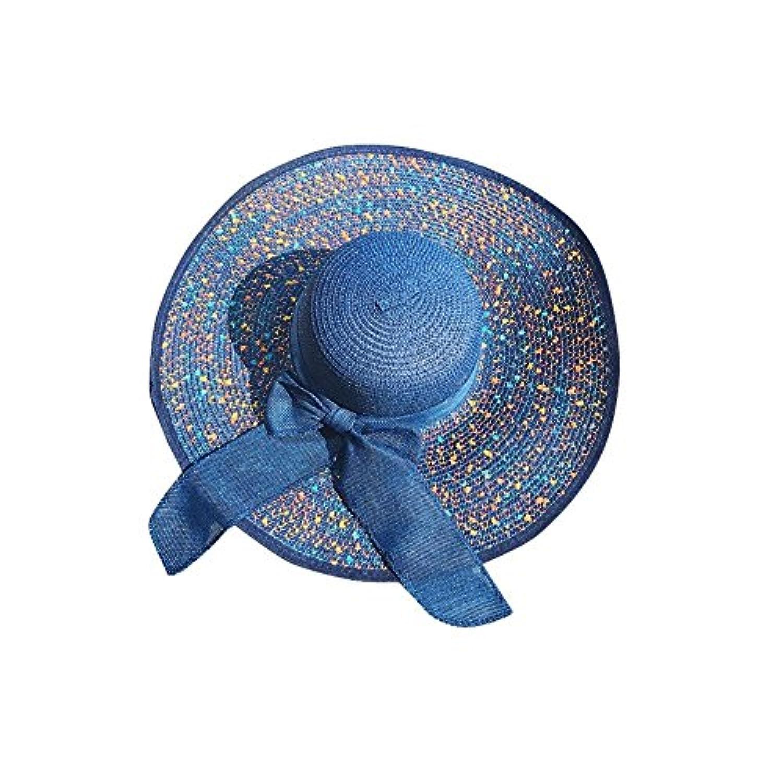 YXI 女性のビーチ帽子麦わら帽子夏の海辺の折り畳み式帽子 (色 : A)