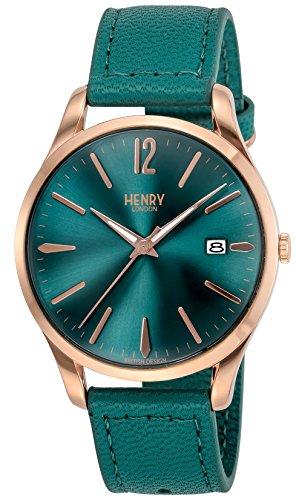 [ヘンリーロンドン]HENRY LONDON 腕時計 STRATFORD グリーン文字盤 HL39S0134 【正規輸入品】