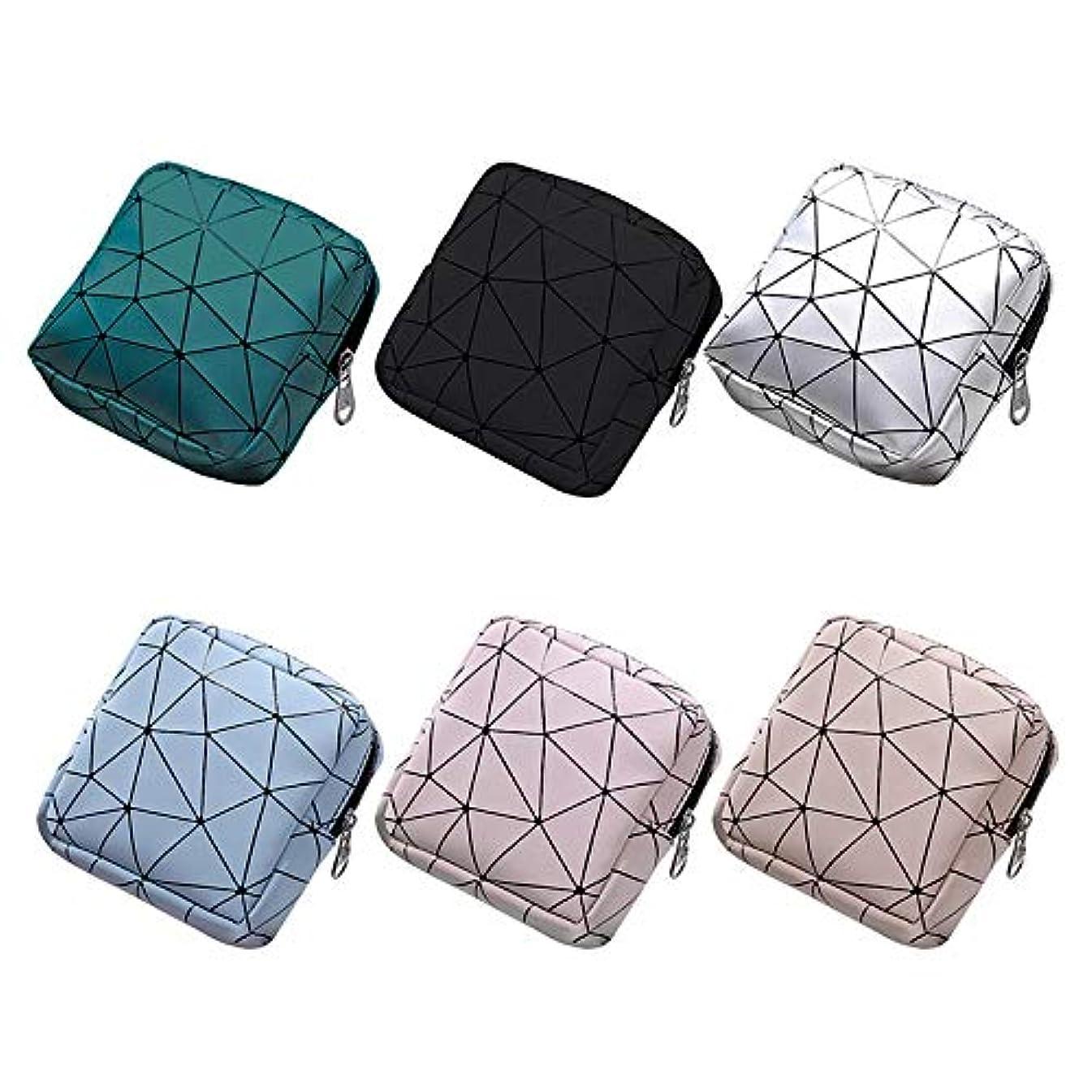 困惑別の限りHUICHEN ミニサニタリーナプキンバッグキャンバスコインケースクレジットカードホルダー生理用ナプキンポーチ化粧品オーガナイザー保存袋 (Color : Black)