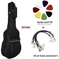 CUDO アコースティックギター用 ギターケース ギグバッグ リュック型 大容量・軽量・防水・頑丈・クッション性付き特徴 収納 持ち運びしやすい ギターピック&ギターのオーディオライン付き