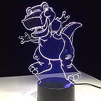 Dtcrzj Ha 3D Ledランプ漫画恐竜雰囲気ナイトライト7色変更ビジュアルテーブル寝室の赤ちゃんのおもちゃギフトデスク家の装飾