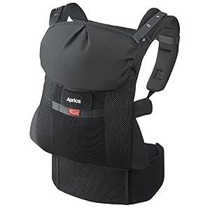 Aprica (アップリカ) 抱っこひも コラン CTS スマートブラックBK 首すわりからすぐ使える3WAYタイプ 【疲れにくい腰ベルト & サポートハーネス付】 39553