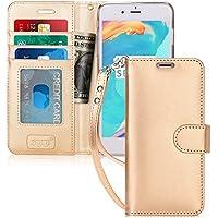 iPhone6sケース iPhone6ケース,FYY 手帳型 カード収納 スタンド機能 マグネット開閉 ストラップ付き 耐衝撃 PUレザー スマホケース ゴールド