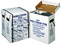 Nifty Products SPSPKIT 252 Piece Polypropylene Portable Strapping Kit, 3000' Length x 1/2 Width Coil, Black by NIFTY