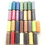 ロウ引き糸 蝋引き糸 ワックスコード 29色 セット 50m ロウ引き紐 蝋引き紐 レザークラフト