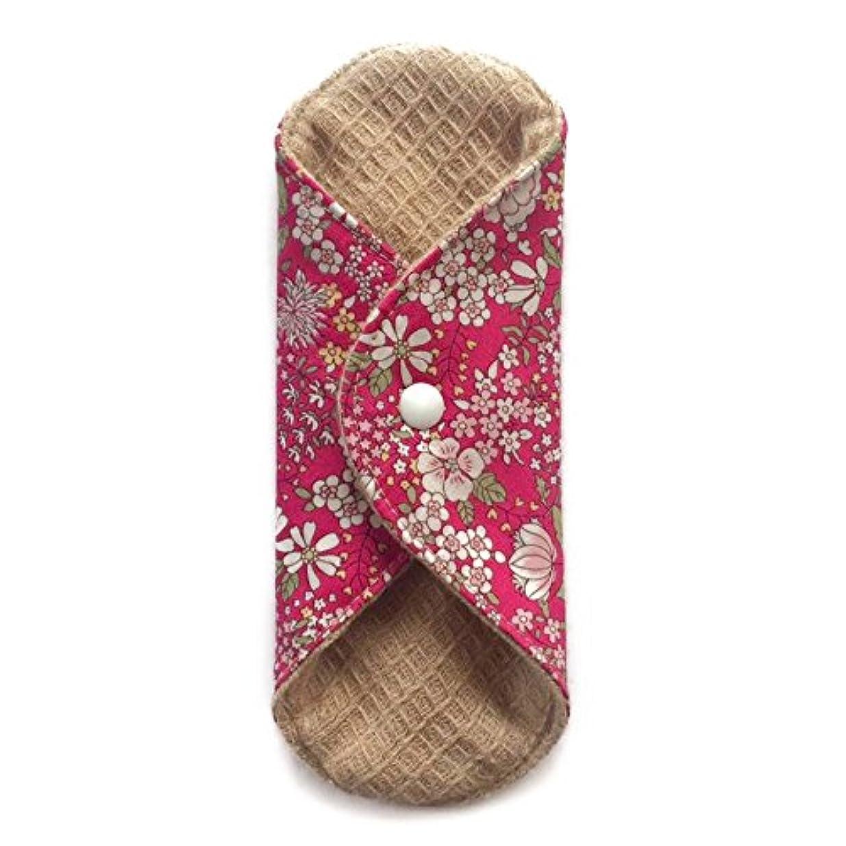 一目ショップ感謝祭華布のオーガニックコットンの極み あたため布 Sサイズ (約13×約13×約0.6cm) 雅(ローズ)