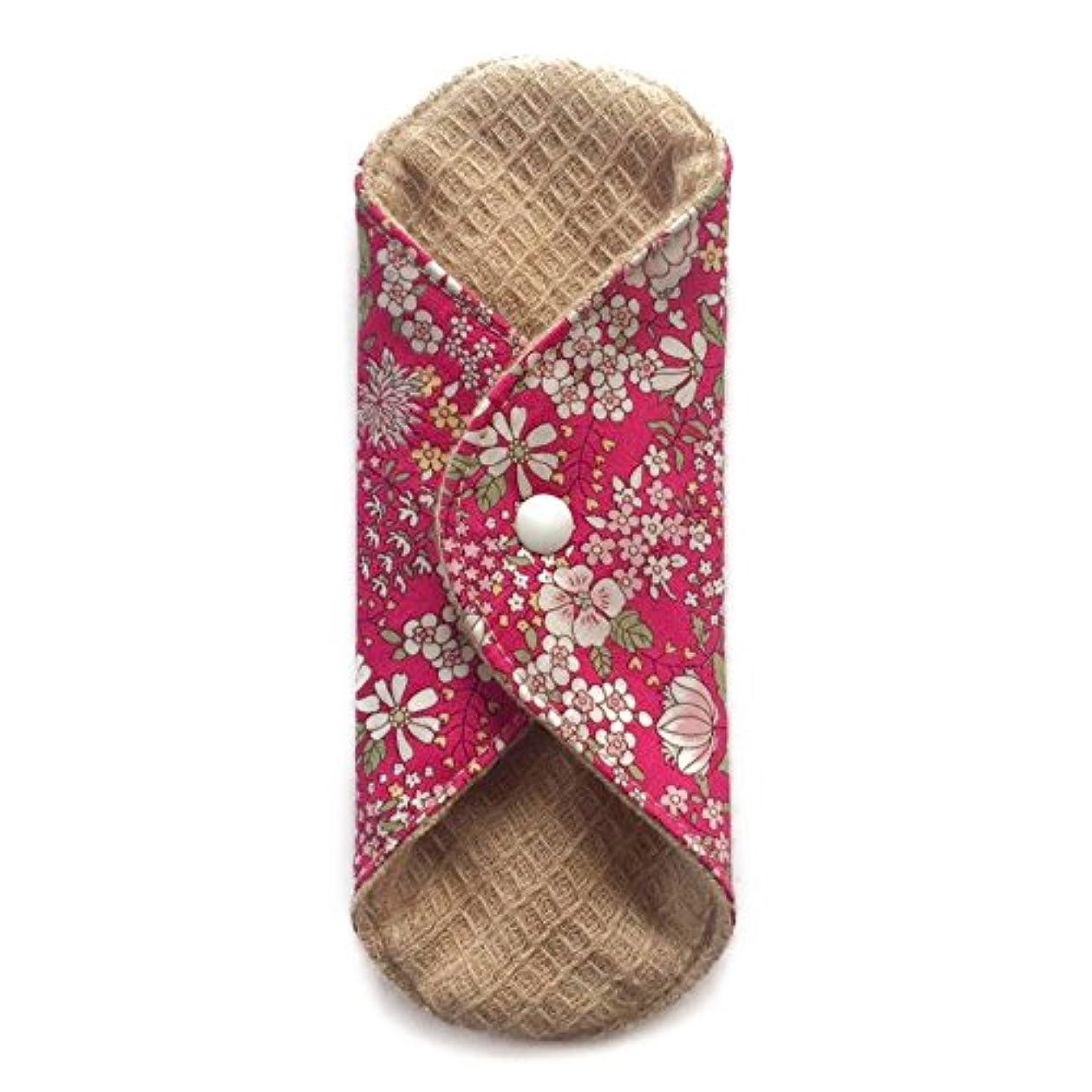 スローガン乱気流カーフ華布のオーガニックコットンの極み あたため布 Sサイズ (約13×約13×約0.6cm) 雅(ローズ)