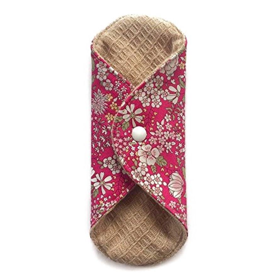 染料削る会計華布のオーガニックコットンの極み あたため布 Sサイズ (約13×約13×約0.6cm) 雅(ローズ)