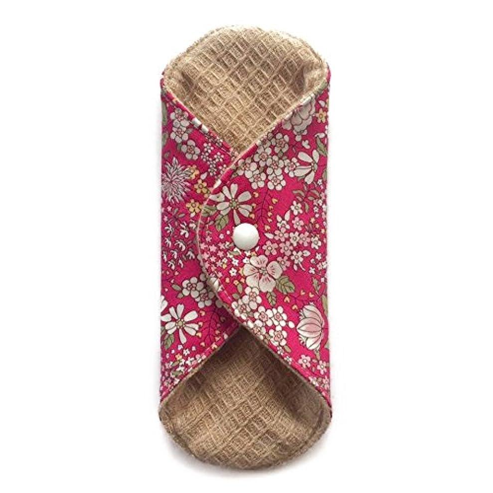 三十医薬酒華布のオーガニックコットンの極み あたため布 Sサイズ (約13×約13×約0.6cm) 雅(ローズ)