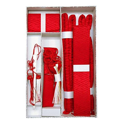 婚礼花嫁5点セット 箱迫 懐剣 末広 抱え帯 丸ぐけ サヤ型 赤