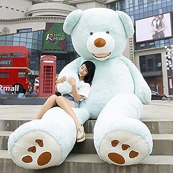 HYAKURIぬいぐるみ 特大 くま/テディベア  可愛い熊 動物 大きい/巨大 くまぬいぐるみ/熊縫い包み/クマ抱き枕/お祝い/ふわふわぬいぐるみ(160cm, ブルー)