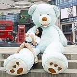 HYAKURIぬいぐるみ 特大 くま/テディベア アメリカCostCo 可愛い熊 動物 大きい/巨大 くまぬいぐるみ/熊縫い包み/クマ抱き枕/お祝い/ふわふわぬいぐるみ(260cm, ブルー)