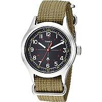 Timex メンズ トッドスナイダー ミリタリー 40mm One Size Olive/Black 2