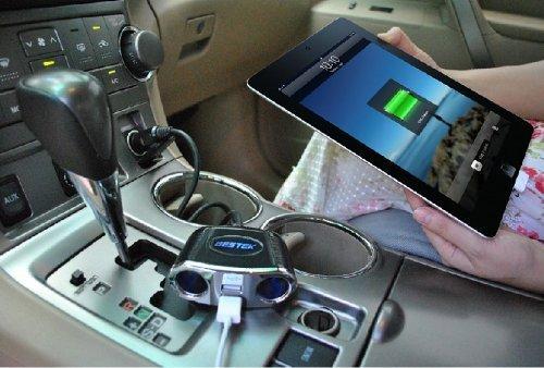 BESTEK シガーソケット usb 充電器 ソケット 2連 USB 2ポート 12V/24V車対応 LEDなし MRS152BK