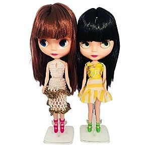カスタマイズ人形、とブライスBjdの人形に似て可愛らしい12インチ、大きい目且つ服付くBJD人形、四色変換可能の目,最高なプレゼントとコレクション