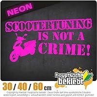 KIWISTAR - Scootertuning is not a Crime! Design 2 15色 - ネオン+クロム! ステッカービニールオートバイ