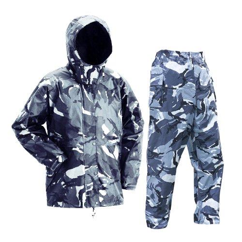 アーヴァン 迷彩レインスーツ 全2色 全6サイズ 上下スーツ カモフラグレー 5L #5680 [正規代理店品]