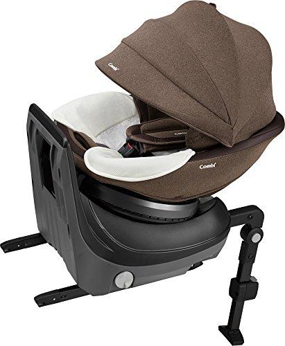 コンビ ホワイトレーベル チャイルドシート クルムーヴ スマート ISOFIX エッグショック JJ-650 ブラウン 新生児~4才頃対象