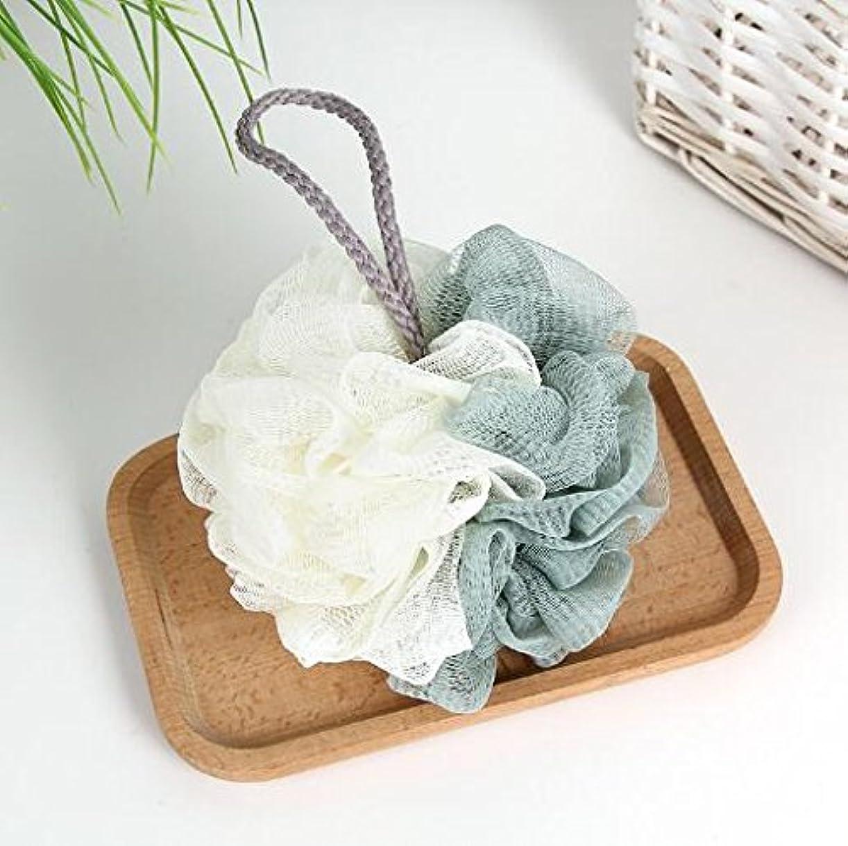 消すベスト連合Chinryou 泡立てネット ボディースポンジ 柔らかい 花形 お風呂用 ボールボディ用 シャボンボール 背中も洗える 泡肌美人 ふわわん (グリーン)