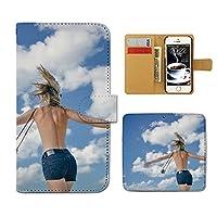 (ティアラ) Tiara ZenFone 3 Max ZC553KL スマホケース 手帳型 ポスター 手帳ケース カバーPHOTO 女性 セクシー 夏 空 E0176010096605