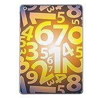 第1世代 iPad Pro 12.9 inch インチ 共通 スキンシール apple アップル アイパッド プロ A1584 A1652 タブレット tablet シール ステッカー ケース 保護シール 背面 人気 単品 おしゃれ ユニーク 数字 黄色 イエロー ブルー 模様 008186