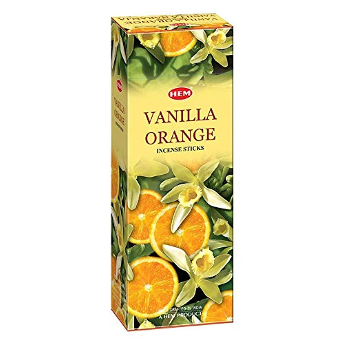 毒液ヒステリック専門Hem Vanilla Orange Incense Sticks (9.3 cm X 6.0 cm X 25.5cm, Black)