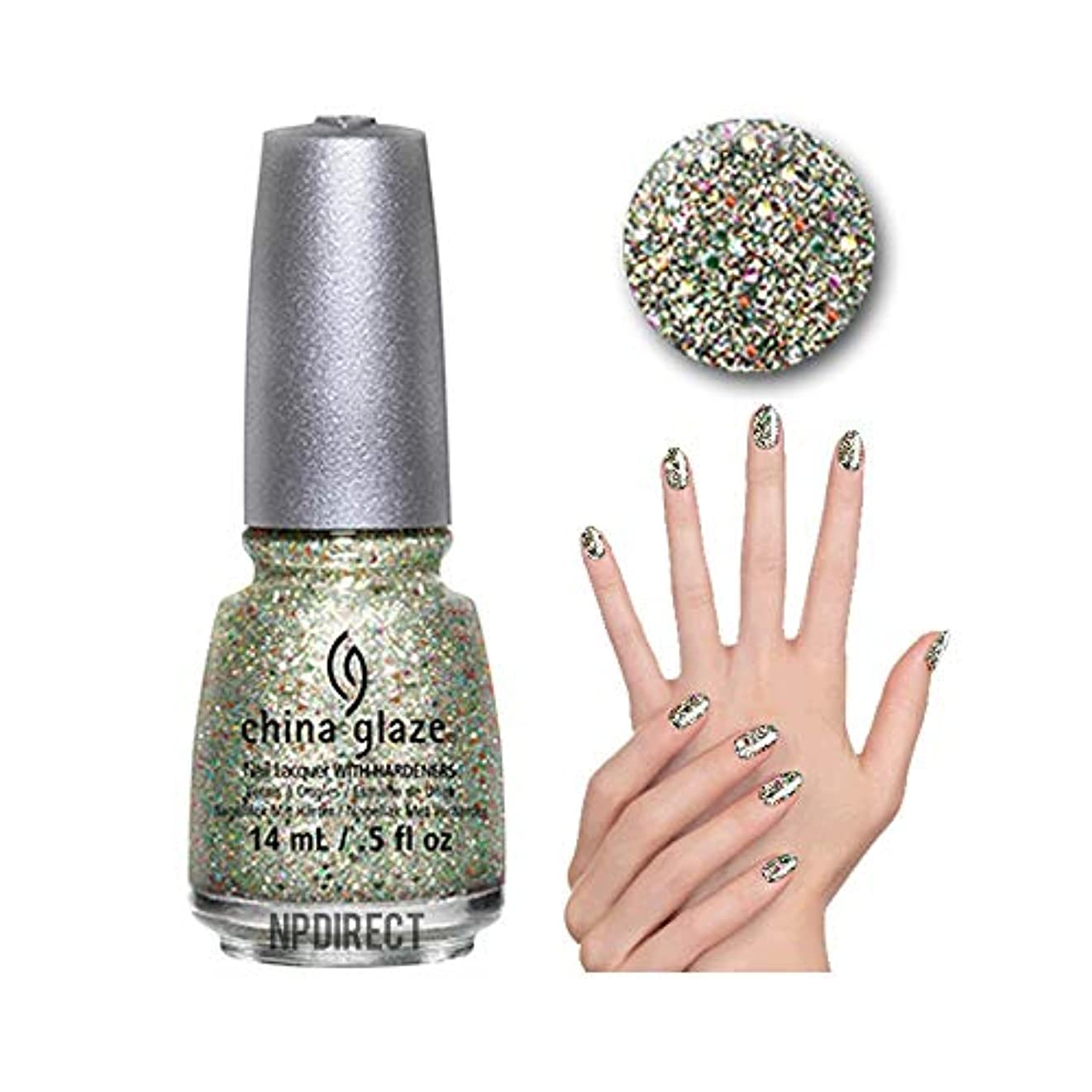 ヶ月目有益量CHINA GLAZE Glitter Nail Lacquer with Nail Hardner - Ray-Diant (DC) (並行輸入品)