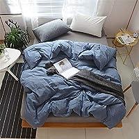無地シンプル 4ピースベッド 寝具 掛け布団カバー シート 枕カバー,06,2.0Bed-sheet