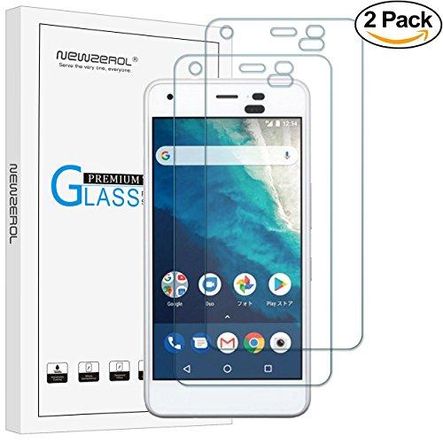 【2枚セット】Newzerol for Kyocera Android One S4 専用 強化ガラスフィルム【5インチ用・旭硝子素材・0.26mm・2.5D・透過率99%・硬度9H・気泡防止】Y!mobile 液晶保護フィルム