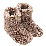 Mianshe 冬 北欧ルームシューズ ルームブーツ 暖かい もこもこ 可愛い 靴下 来客用 男女兼用 (Mサイズ 24cmくらいまで, ベージュ)