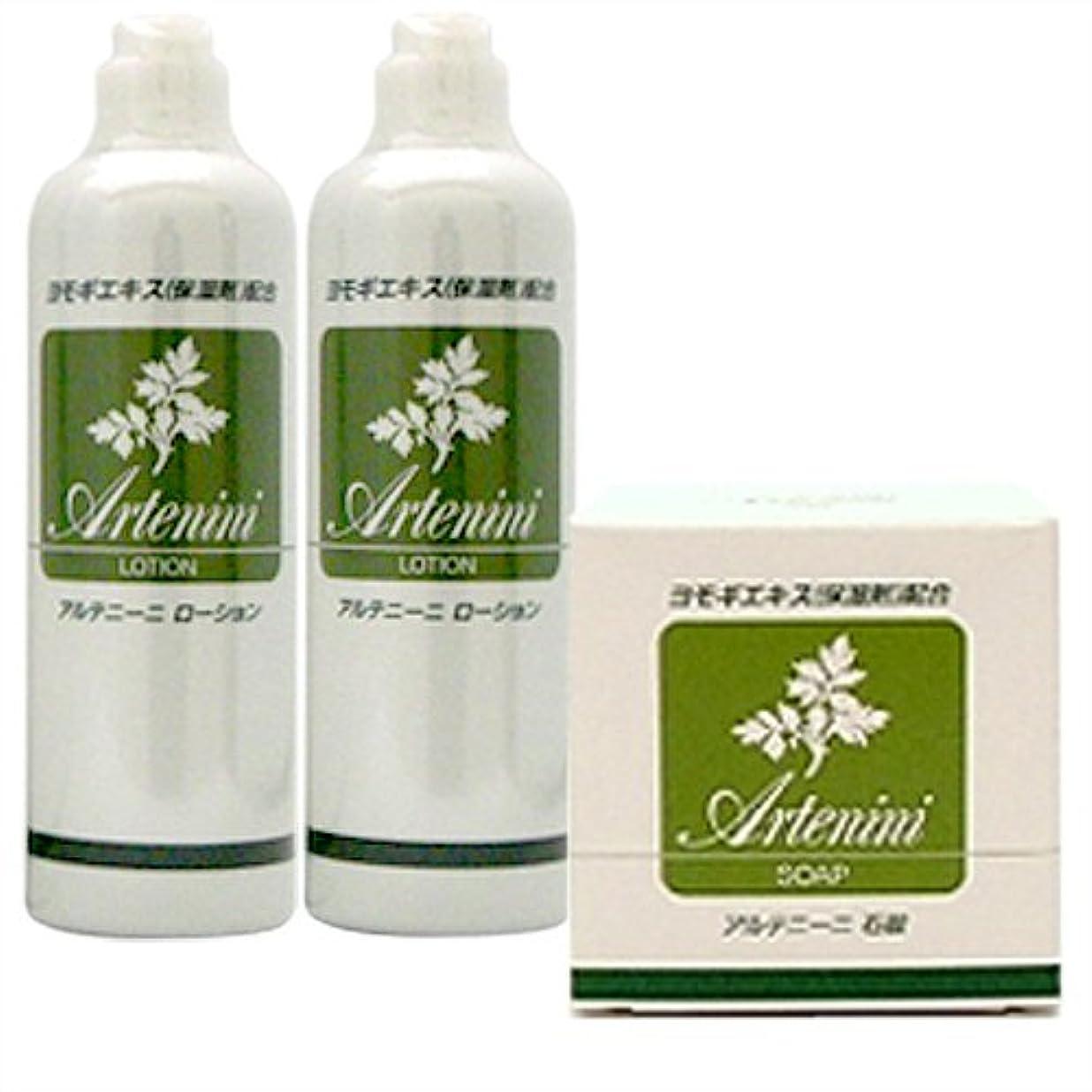 毒液緑さまようアルテニーニ ローション 300ml×2本 + アルテニーニ 石鹸 90g セット