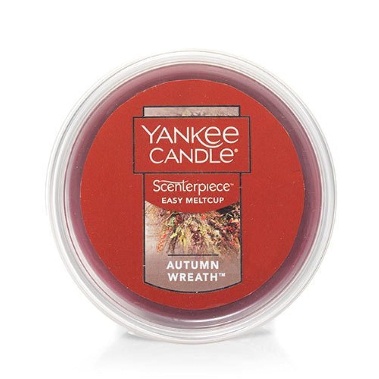 画面予言する乏しいYankee Candle Autumn Wreath Scenterpiece Easy MeltCup , Food & Spice香り2.2 Oz
