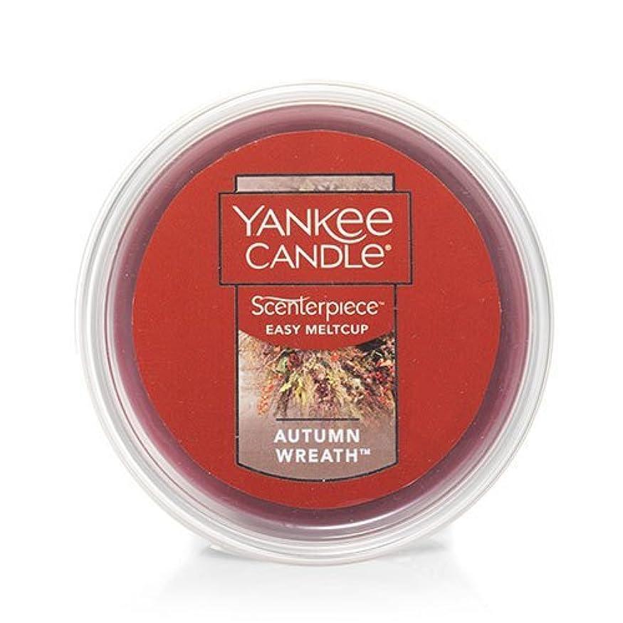 葉保守的真実Yankee Candle Autumn Wreath Scenterpiece Easy MeltCup , Food & Spice香り2.2 Oz
