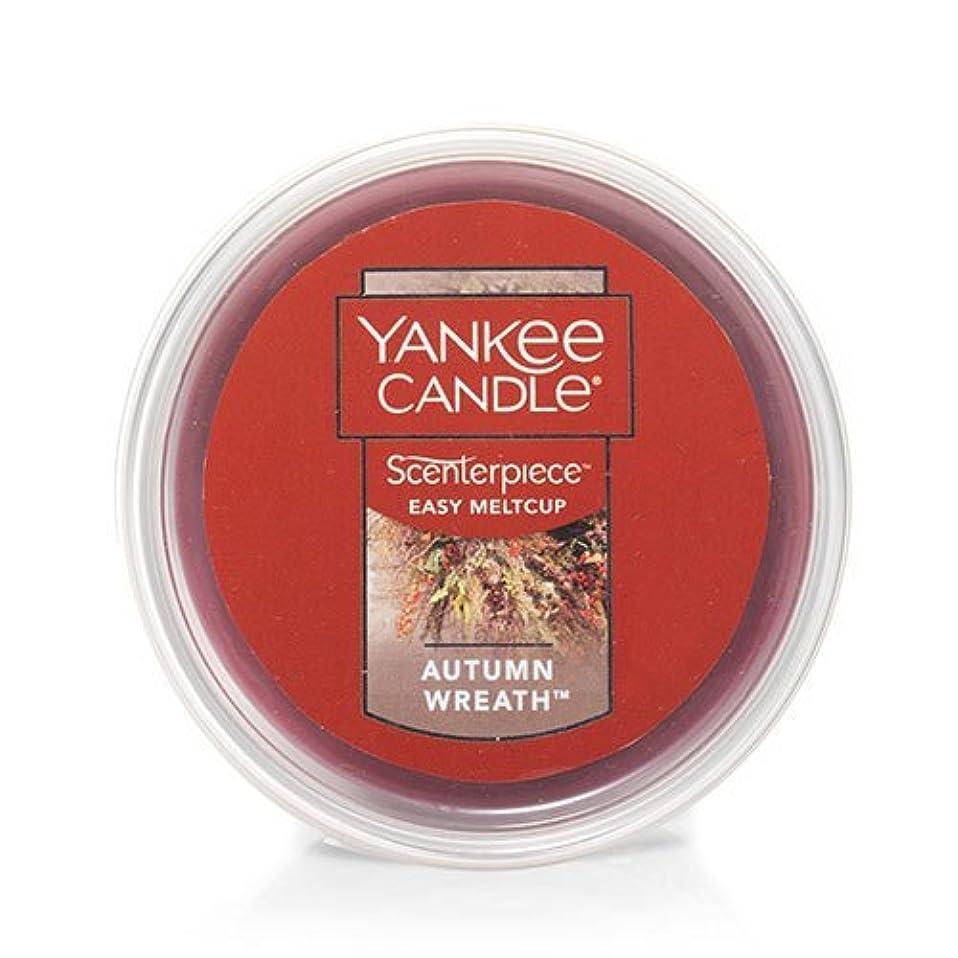 ローマ人迷彩はさみYankee Candle Autumn Wreath Scenterpiece Easy MeltCup , Food & Spice香り2.2 Oz