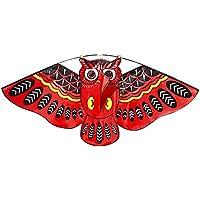 Lixada 43 x 20インチカラフルCartoon Owl Flying Kite With Kite Lineアウトドアおもちゃfor Children